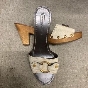 BCBS wooden heel sandals